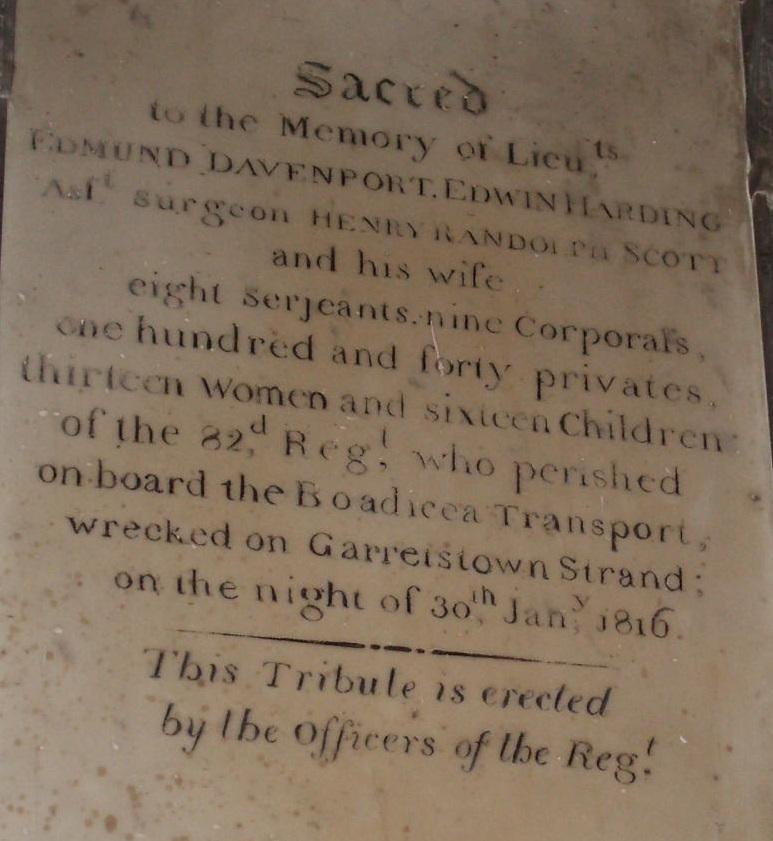 The Boadicea Memorial, St. Multose's Church, Kinsale