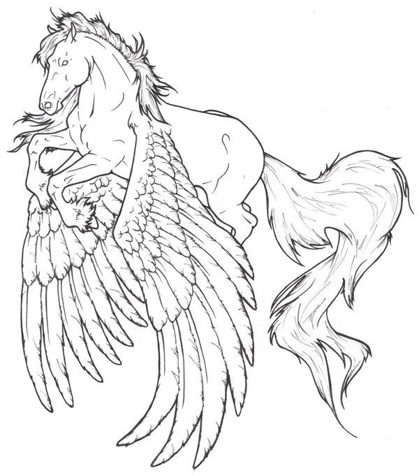 pegasus coloring page - rearing pegasus coloring pages
