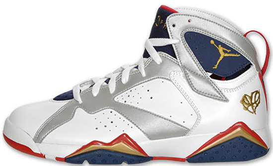 Air Jordan 7 Retro (08/13/2010) 304775-103 White/Metallic Gold-True Red-Midnight Navy \u0026quot;Olympic For The Love Of The Game\u0026quot; $150.00