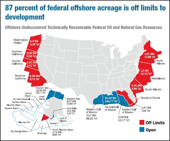 CARPE DIEM Map Of The Day Of US Federal Offshore Acreage - Map of us with drilling locations