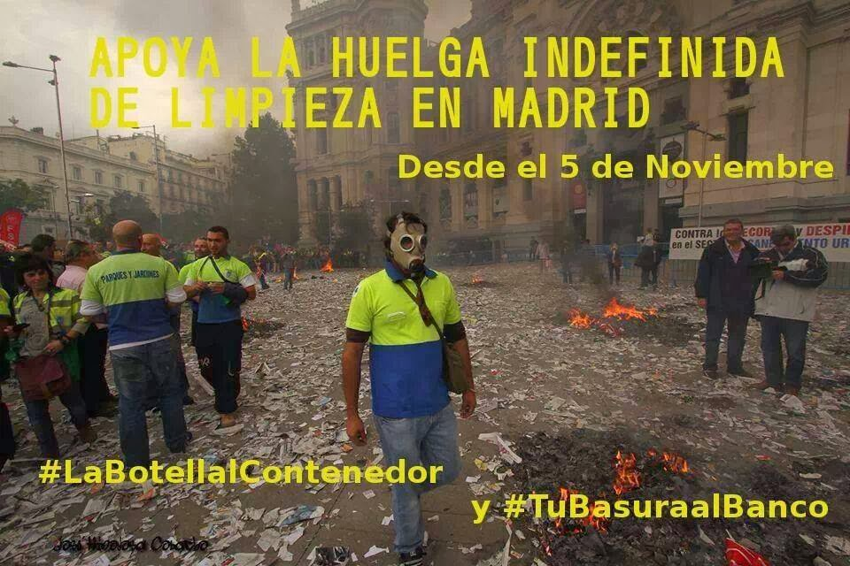 Gatos sindicales mad huelga indefinida de limpieza y - Trabajo jardineria madrid ...