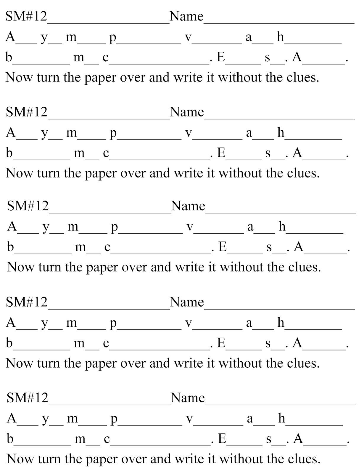 D&c Scripture Mastery 12 D&c