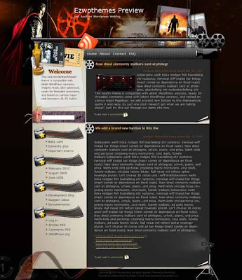 Flavoring blogger template. converted WordPress to Blogger template. movie template blog