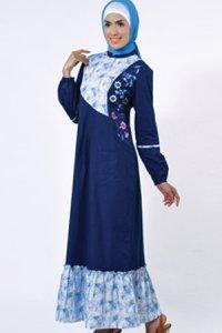 Manet Gamis 3214 - Biru Dongker (Toko Jilbab dan Busana Muslimah Terbaru)