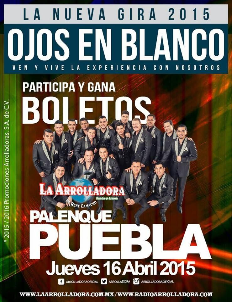 La Arrolladora en Puebla 2015