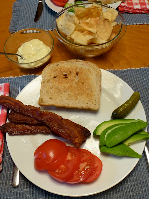 Bacon, Avocado & Tomato DIY Sandwich by Nina's Show & Tell