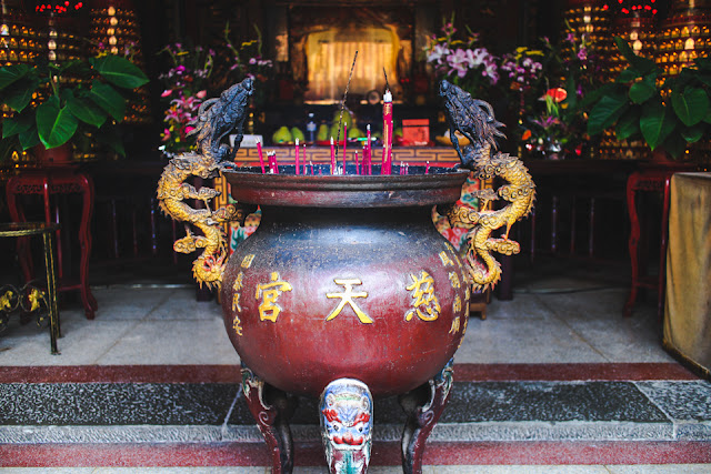 incense burning at the temple |  Beipu, Taiwan