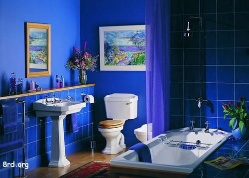 Vrooms cool blue bathroom design for Bathroom color ideas blue