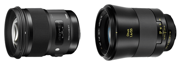 Sigma 50mm f/1.4 Art, Zeiss Otus 55mm f/1.4 比較まとめ