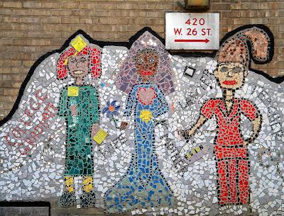Street Art Three Women in Chelsea Clip Art