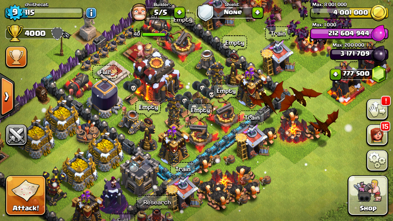 clash of clans android offline mod apk