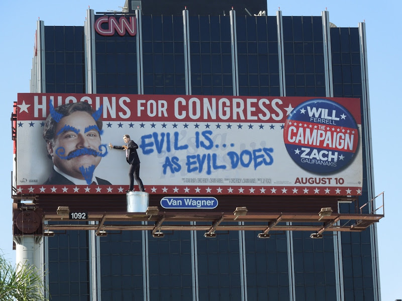 Campaign Higgins for Congress billboard installation