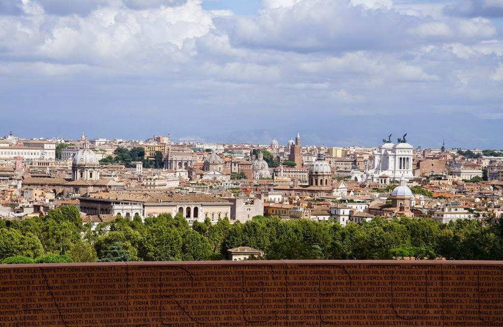 Vue sur Rome - le Janicule