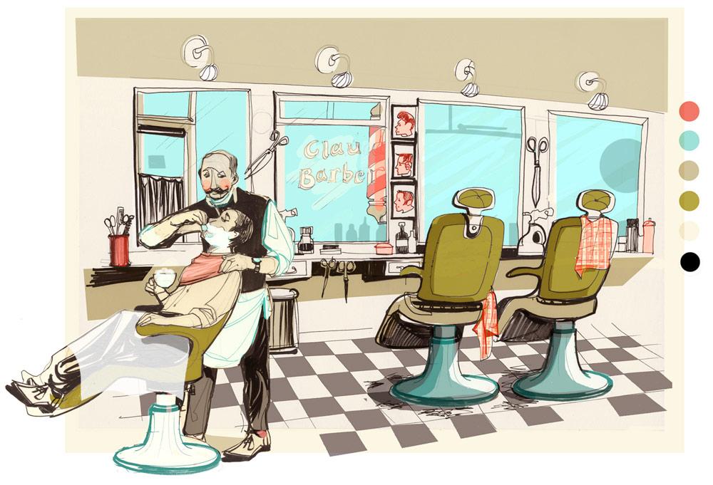 Barber Financial : Hair Salon and Digital Ad agency e Magus