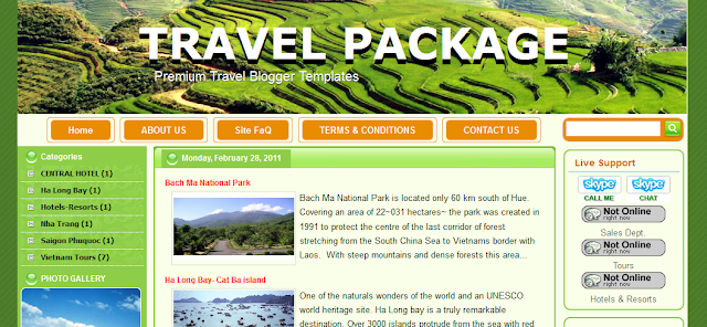 Travel Blog Blogger Template