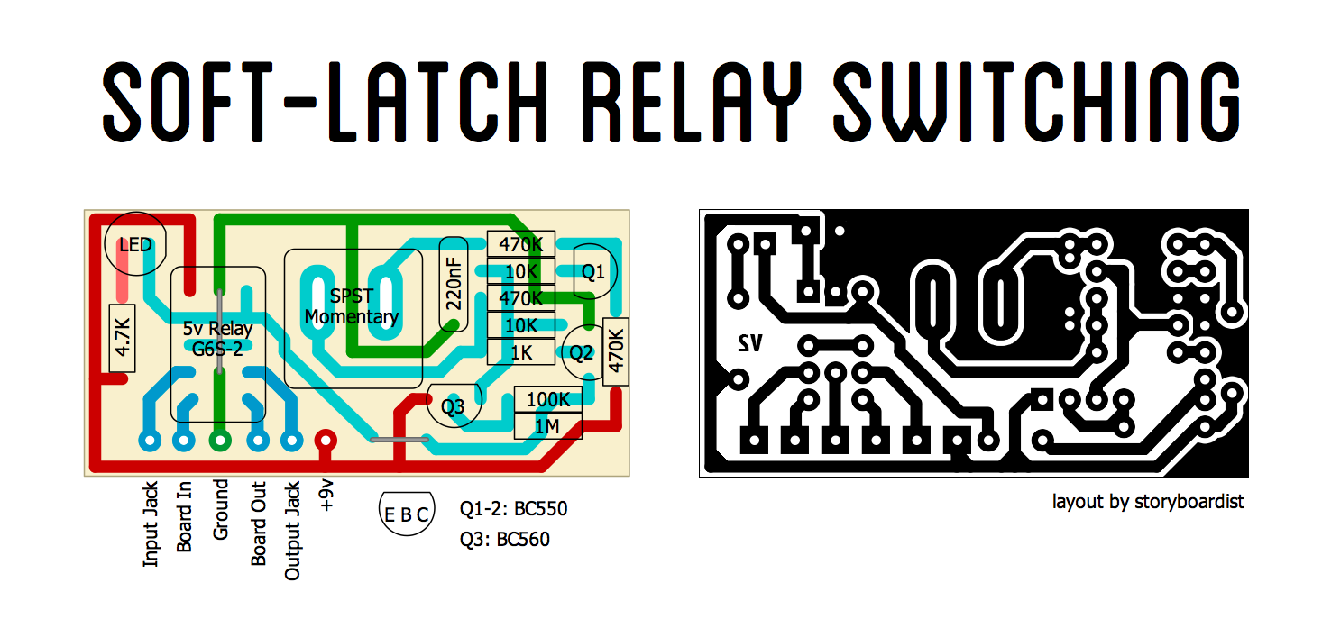 Perf And PCB Effects Layouts SoftLatch Relay Switching - Two coil latching relay