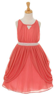 Vestidos, Niña de las Flores, Coral