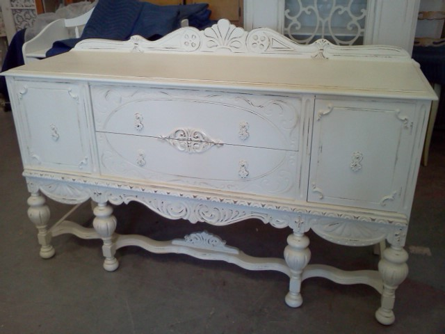 Antique distressed shabby chic buffet server sideboard for Sideboard shabby chic