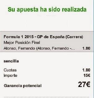 Apuestas Deportivas Rosberg Formula 1-GP España Alonso Mclaren