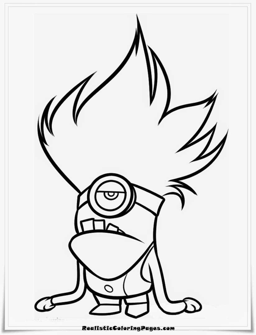 Despicable Me Coloring Pages Children