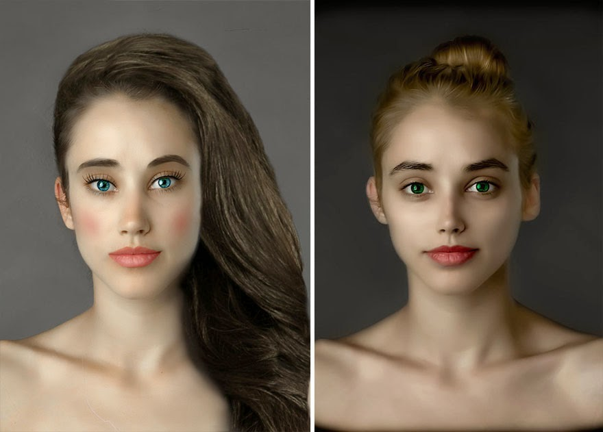 U.S.A. - Woman Had Her Face Photoshopped In More Than 25 Countries To Compare Their Beauty Standards