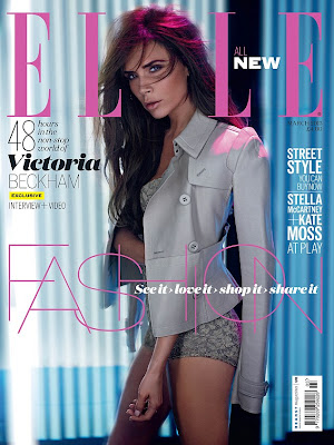Victoria Beckham Pose Seksi untuk Elle - http://lintasjagat.blogspot.com/