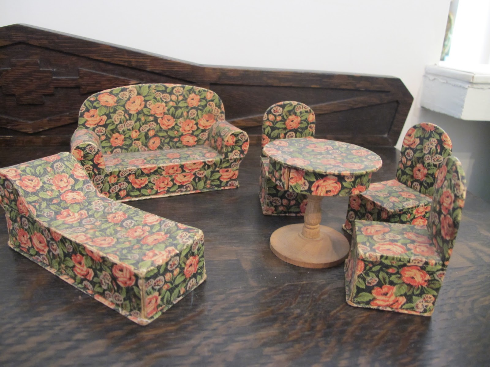 Susan 39 s mini homes candy containers as antique doll house furniture - Paper furniture ...