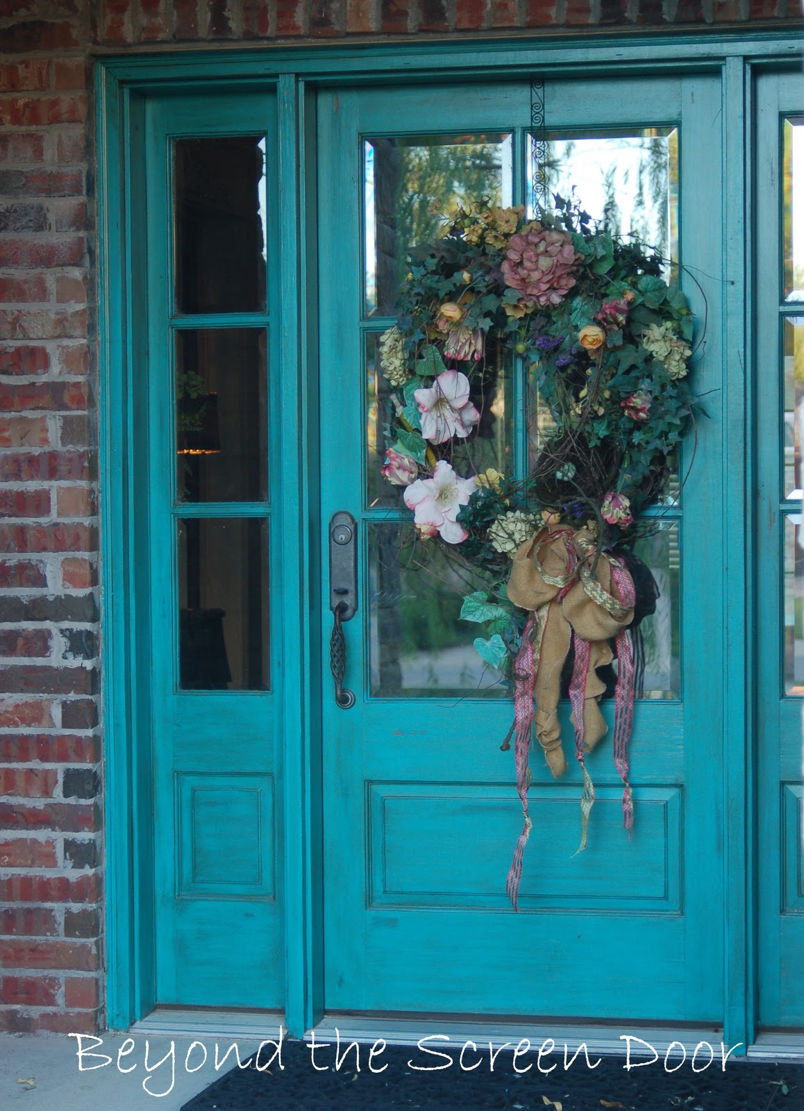 More turquoise front doors sonya hamilton designs - Painting exterior woodwork image ...