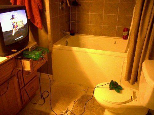 Baño geek videojuegos