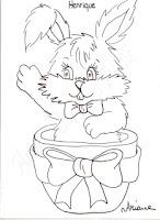 coelho de pascoa dentro do ovo