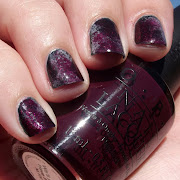 My base colour was Orly Le Chateau, a very dark jellylike teal.