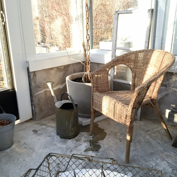 hannashantverk växthus vår vindruva korgstol