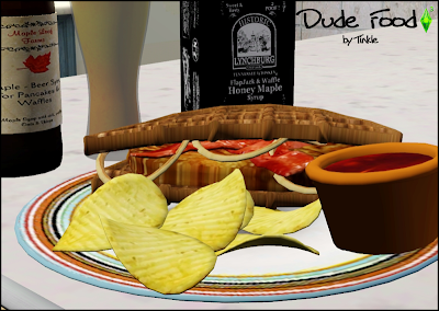 My sims 3 blog dude food decor by tinkle - Plaque decorative cuisine ...