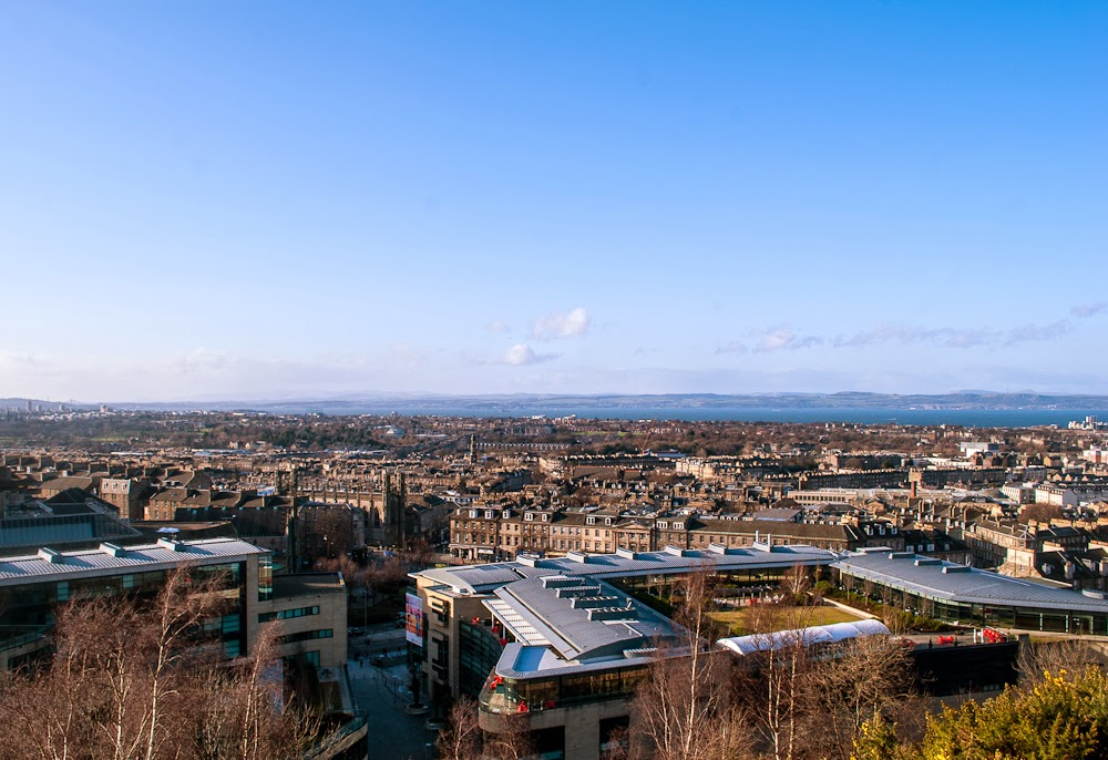 great view of Edinburgh city calton hill