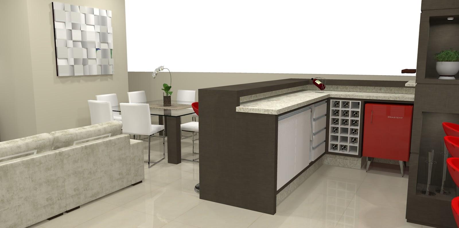 Maquete Eletr Nica Cozinha Gourmet E Sala Integrados