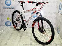Sepeda Gunung Remaja Pacific Invert 21 Speed 24 Inci White Red