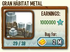 habitat mejorado de metal