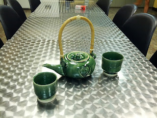 Finished Teapot and Cups