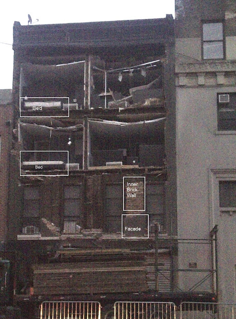 Collapsed Chelsea Facade From Hurricane Sandy