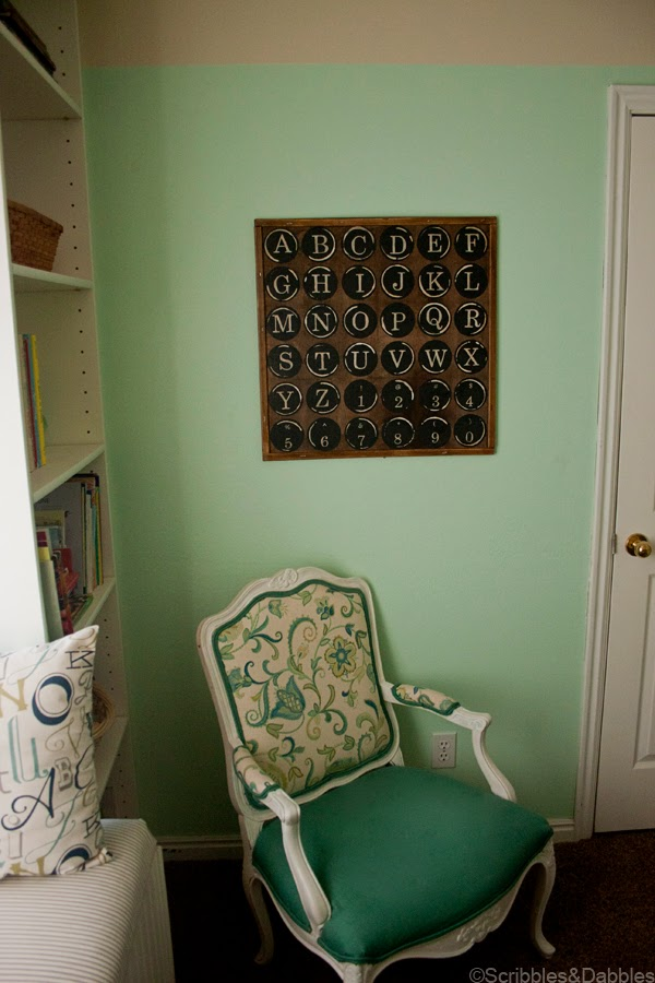 Scribbles&Dabbles: Nursery Makeover -- Vintage Keys art