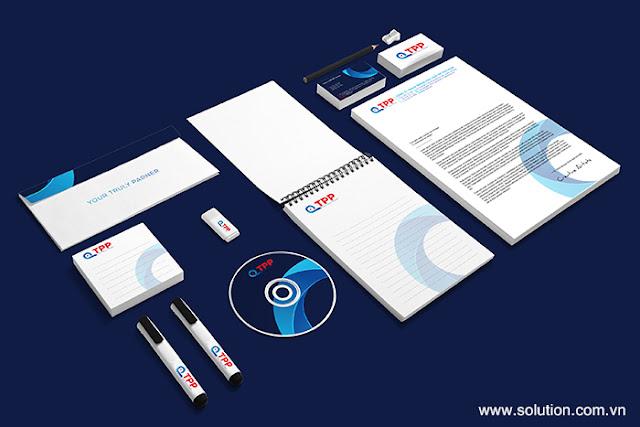Mẫu thiết kế bộ nhận diện thương hiệu TPP Việt Nam