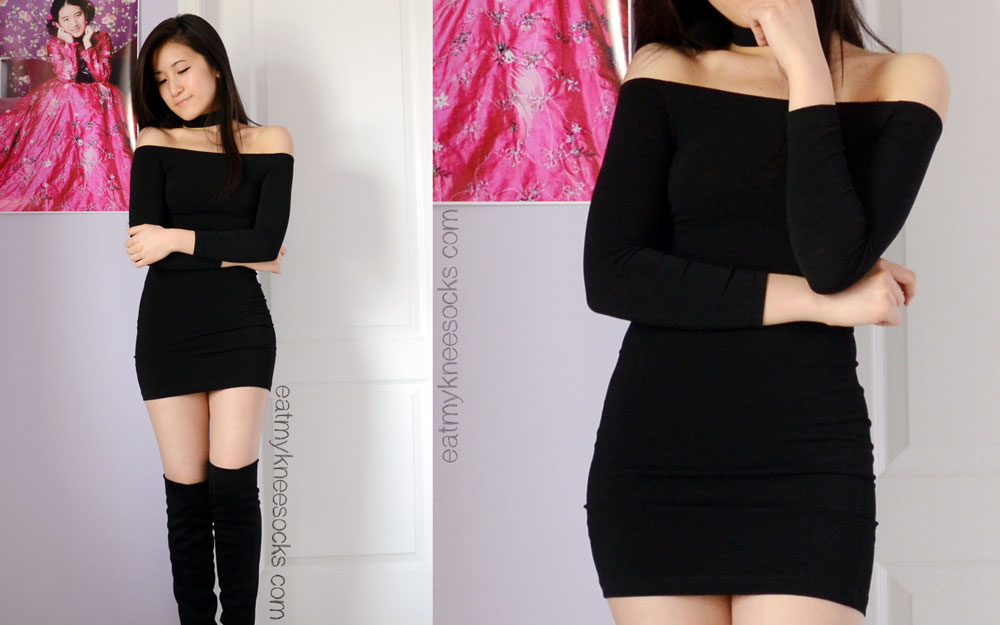 The choker attachment on this bodycon dress from Jollychic makes it very unique, edgy, and stylish.