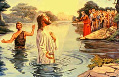 Gambar Tuhan Yesus Kristus: Gambar Yesus DiBaptis