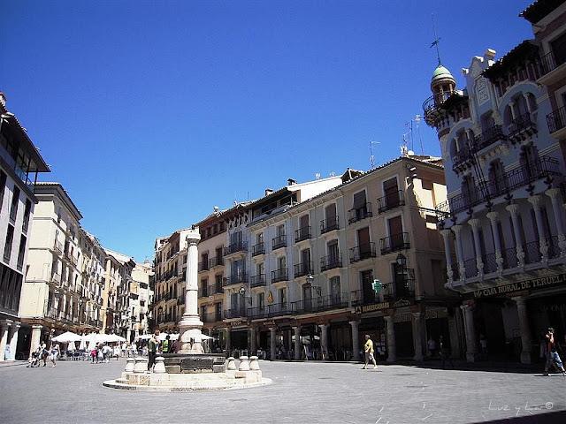 Plaza el Torico en Teruel