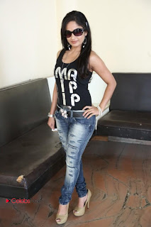 Madhavi Latha Latest  Picture Gallery in Jeans  0022