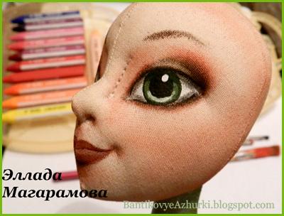 как рисовать кукольное лицо и