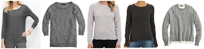 Ann Taylor Faux Leather Piped Sweater $29.88 (regular $89.50)  J. Crew Merino Wool Tippi Sweater $39.99 (regular $79.50)  Pendelton Patches Pullover $39.99 (regular $99.50)  BCBGeneration Chiffon Print Back Pullover $39.99 (regular $98.00) check out the back of this one!  J. Crew Merino Wool Side Slit Sweater $49.99 (regular $89.50)