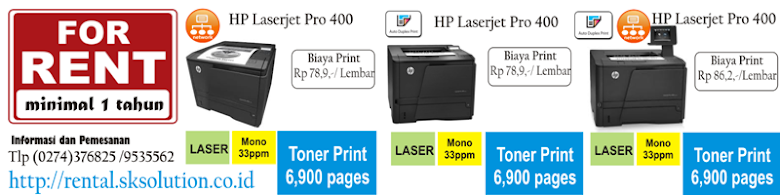 Paket Rental Printer Laser Kapasitas Super