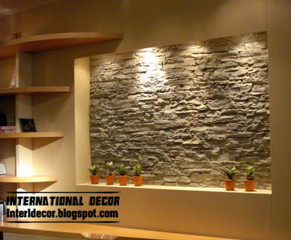Interior stone wall tiles designs ideas modern stone tiles interior decor idea for Interior wall decoration ideas