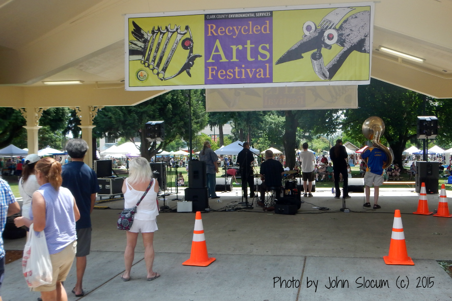 Bandstand with Live Music at the Recycled Arts Festival 2015